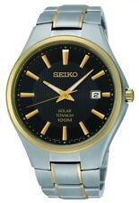 Seiko Gents Solar Titanium Watch - SNE382P9 NEW