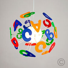 Colourful Childrens Kids Bedroom Boys  Girls Alphabet Ceiling Light Lamp Shade