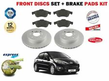 FOR PEUGEOT 207 1.4i + SW 16V 2006-> FRONT BRAKE DISCS SET AND DISC PADS KIT