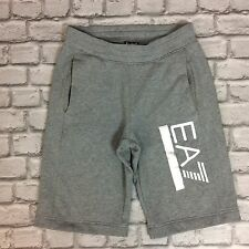 EMPORIO ARMANI EA7 MENS UK S GREY LOGO SHORTS TRAINING GYM RRP £75