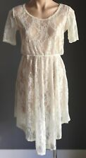 New with Tags Cream Lace RARE LONDON Handkerchief Dress Dress Size 10