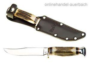 LINDER Säbels Hirschhorn Messer Fahrtenmesser