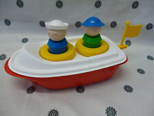 Tupperware Kids Canoe Ship Bath Time Boat Tupperkids Bath Toy Red & White New