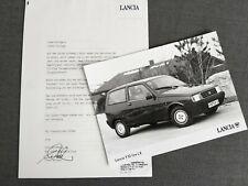 LANCIA Y10 FIRE LX Kleinwagen Pressefoto Presse Information 1986 AD