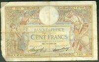 FRANCE 100 FRANCS LUC OLIVIER MERSON du 7/2/1935  ETAT:  TB-  # V 47429