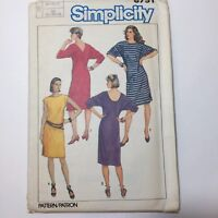 Simplicity 6751 Size 10 12 14 Easy-to-Sew Dresses in Two Lengths Stretch Knits