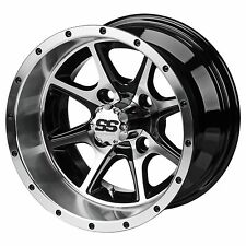 """GOLF CART 12"""" AZUSA WHEELS and 215/40-12 DOT LOW PROFILE TIRES (4) Type 8"""