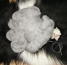 Schafwolle Schurwolle Strickgarn Naturprodukt 1000g Wolle hellgrau