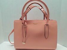 NWT Radley London Medium Zip-top Multiway Leather Bag Crossbody Pale Pink