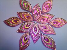 Pink eye shape flat back sew on stones crystal Rhinestones Accessories 50pcs