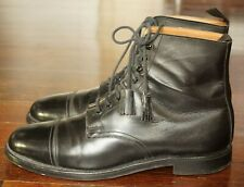 CROCKETT & JONES 9.5 D UK 8.5 E BLACK LEATHER CAP TOE CONISTON BOOT