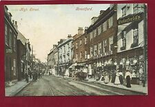 Rare Vintage Postcard. Brentford High Street. Posted May 1907.