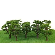 10x Green Trees Model Train Park Layout Wargame Diorama Architecture HO N