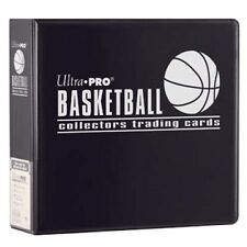 "Lot of 10 Ultra Pro 3"" Basketball Card Binder Collector's Album Black Binders"
