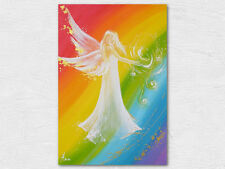 """Angel art photo """"Rainbow energy""""  modern abstract contemporary picture for frame"""
