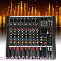 USB 8 Channel bluetooth Live Studio Audio Mixer Mixing Console+Charger