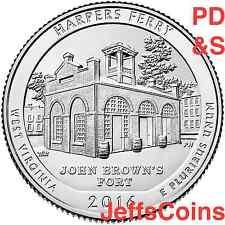 2016 PDS Harpers Ferry National Historical Park QUARTER SET P D S Mints 16arg
