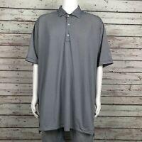 Fennec Golf Polo Shirt 2XL Men's Black Gray Stripe Polyester Wicking Sleeve Logo