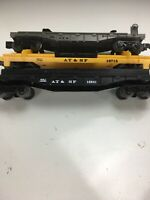 Lionel AT&SF Flat car Lot 16941 ,16715, 16940 Santa Fe O Gauge