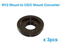 3pcs M12 to CS or C Mount Lens Converter/Adapter Ring Board to CS Mount Connect