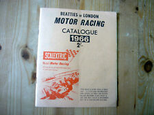 Beatties of London Motor Racing Catalogue 1966, inc Scalextric, excellent