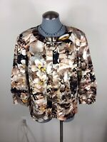 Coldwater Creek Size  W 18 Jacket Womens Paisley Zip Up Blazer
