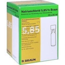 NATRIUMCHLORID 5,85% Braun MPC Infusionslsg.-Konz. 20X20ml PZN 3158635