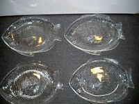 4 CLEAR GLASS PLATES 10 3/4''