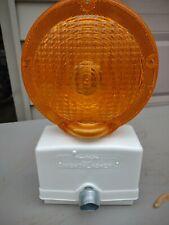 5 Amber Flashing Construction Amp Safety Barricade Warning Lights New