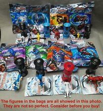 LOT! 8 Bags MONSUNO Action Figures Spin Pop Out Battle Card Toys Kids Boys Gift