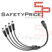 Cable splitter DC duplicador 4 salidas CCTV camara seguridad 12V - 2.1mm x 5.5mm