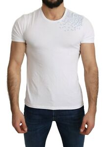 ERMANNO SCERVINO Beachwear T-shirt White Cotton Stretch Top s. 48 / M