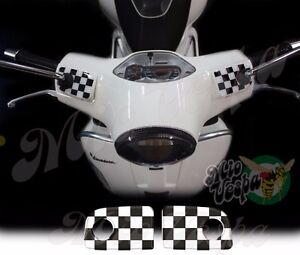 Checkered Flags Straight pump covers overlay 3D Decals sticker Vespa GTs 250 300