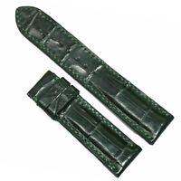 20/18mm Green Genuine ALLIGATOR CROCODILE SKIN WATCH STRAP BAND (Lugs 20mm )