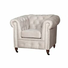 Chesterfield 1 Sitzer Fernsehsessel Club Lounge Relax Sessel Leder Textil Sofas