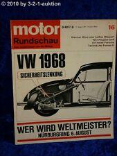 Motor Rundschau 16/67 VW 1968 Porsche Sportomatic Tatra