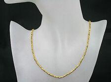 Pyrit Kette /- Collier in gold, facet., edel, 37,50ct.,925Silb. Karab. vergol.
