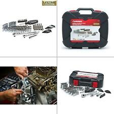 mechanics tool set (92-piece) | husky case chrome ratchets storage sockets new