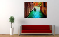 "GONDOLIER IN VENICE NEW GIANT LARGE ART PRINT POSTER PICTURE WALL 33.1""x23.4"""