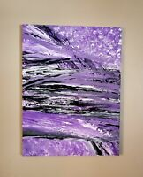 Original ABSTRACT Painting in Purple and Black
