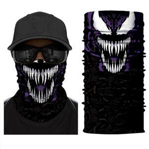 Multi-used Venom Bandana Face scarf Shiled Fishing Shiled Ski Neck Warmer Scarf