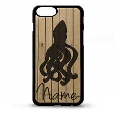Octopus calamar Kraken Náutica Mar Artes Gráficas Nombre Personalizado Teléfono Estuche Cubierta