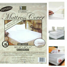 QUEEN Size Fabric Mattress Protector Zippered Waterproof Bed Bug FREE SHIPPING