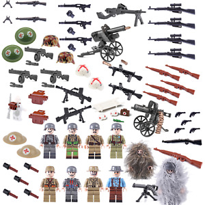 WW2 WWII ARMY Weapons, Guns Helmets & Gear compatible for Brick FIGURES UK STOCK