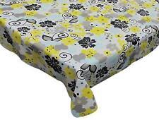 "Carnation Home ""Retro Garden"" 70"" Round Vinyl Flannel Backed Tablecloth"