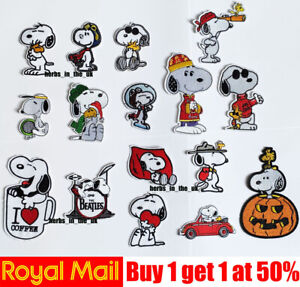 Snoopy Dog Iron On / Sew On Patch Badge ( 16 styles !!! ) Cute dog