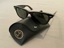 Ray-Ban RB2140 901 50-22 Wayfarer Green Lenses Unisex Classic Sunglasses - Black