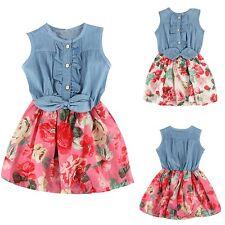 Flower Girls Kids Baby Summer Princess Dress Party Pageant Tutu Skirt Dresses
