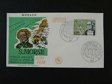 physics telegraphy telegraph Samuel Morse ITU FDC Monaco ref 73639