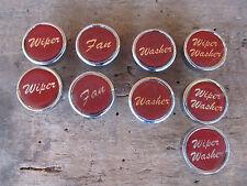 NEW CHROME SWITCH DASH KNOB Wiper Washer RED HOT ROD~ BIG RIG